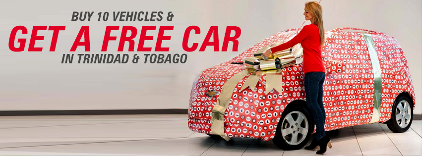 Free Car Offer for Trinidad and Tobago
